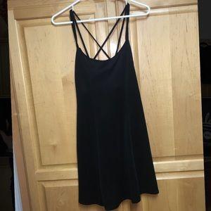 Strappy black dress